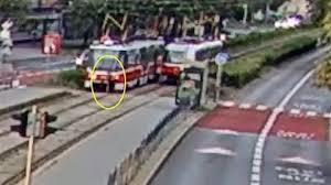 old boy was swept away by a tram