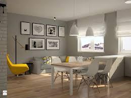 mieszkanie na ursynowie mały salon z jadalnią styl skandynawski zdjęcie od icona studio