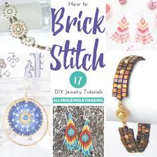 Brick Stitch Patterns Interesting 48 DIY Brick Stitch Patterns AllFreeJewelryMaking