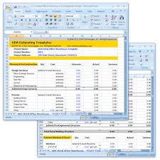 construction estimate sample uda construction estimating templates light commercial excel