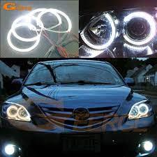 For Mazda 3 Mazda3 2003 2004 2005 2006 2007 Excellent Led Angel Eyes Ultra Bright Illumination Smd Led Angel Eyes Halo Ring Kit Mazda Mazda 3 Car Lights