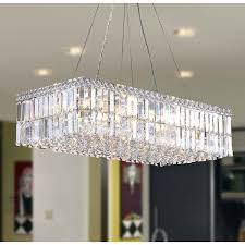 modern art deco style 16 light chrome finish clear crystal rectangle chandelier 28 l