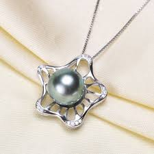 diy jewellery 925 sterling silver pearl pendant unique design necklace pendant findings jewelry parts fittings women