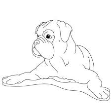Boxer Coloring Page Free Printable Coloring Pages Boxer Dog Coloring