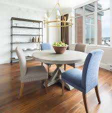incredible round gray trestle dining table with mismatched dining chairs dining room table with diffe colored chairs prepare