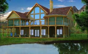House Plans For Lakefront Homes  HomecaLake Front Home Plans