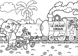 Use Dora The Explorers Printable Coloring