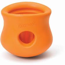 Zogoflex игрушка под <b>лакомства для собак</b> Toppl S <b>8</b> см оранжевая