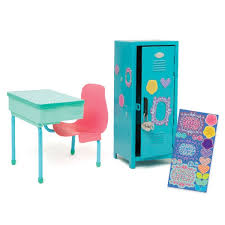 school desk and locker km136 all dolls play sets outfits and accessories