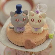 Funny Cat Wedding Cake Toppers