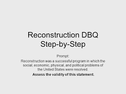 dbq tutorial tuesday complete the outline and analysis of cartoons 2 reconstruction