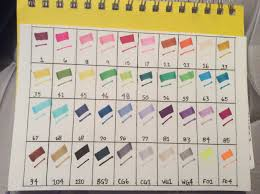 Ohuhu Color Chart Ohuhu 40 Marker Color Chart Homemade In 2019 Ohuhu Markers