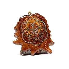 pine cone pendant sacred geometry pendant gold natural pine cone pendant