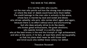 Best 19 The Man In The Arena Quote Famous Quotes Roosevelt