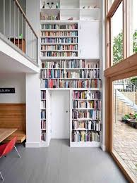 Two story home library