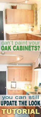 how to update old kitchen cabinets without painting ideas