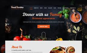 Table Reservation Template Food Funday Free Bootstrap Restaurant Template With Parallax And Reservation Form