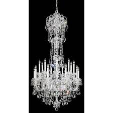 schonbek olde world silver 23 light crystal swarovski strass chandelier 36w x 68h x 36d