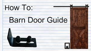 how to setup barn door bottom guide with your barn door