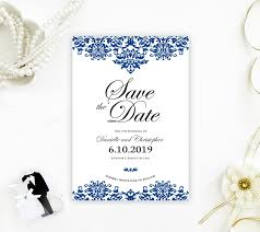What Are Save The Date Cards Damask Save The Date Cards