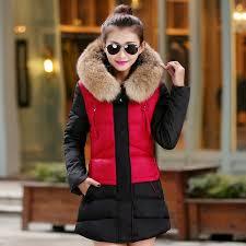 2016 korean parka women jackets slim nagymaros collar winter down padded cotton jacket women long winter