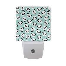 Sensor Night Light Plug In Led Night Light Plug In Panda Pattern Smart Dusk To Dawn
