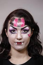 how to create a monster high draculaura makeup facepaint
