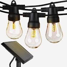 Edison Outdoor Patio Lights Ambience Pro Outdoor String Lights Solar Hanging