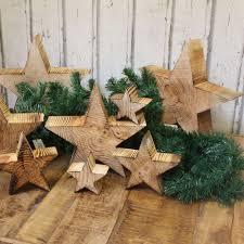 Holz Stern Weihnachtsstern Geflammt Holzstern Holzsterne