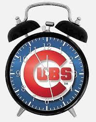 chicago cubs alarm desk clock 3 75