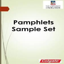What Is A Pamphlet Sample Pamphlets Faculty Health Sciences Pamphlets Sample Set Dperu