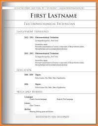 Download Resume Form Bio Resume Samples