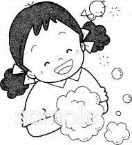 手を洗う 女の子イラストなら小学校幼稚園向け保育園向けの