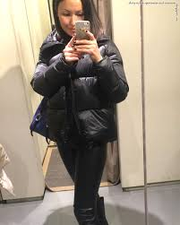shiny black leggings outfit lycra wet look instagram photo women s shiny padded down puffer jacket