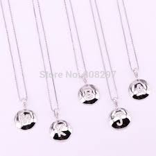 10pcs dark silver color micro pave cz round letter pendant necklace a to z 26 alphabet