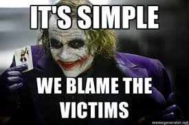 Image result for blame the victim