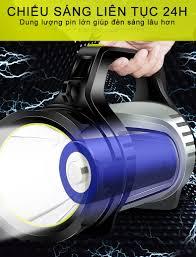Đèn pin siêu sáng cầm tay chiếu xa, đèn pin đa năng sạc điện thoại