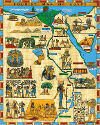 tourist map of egypt canvas