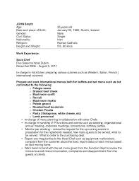 Resume Sample For Cook Chef Resume Sample Examples Sous Chef Jobs