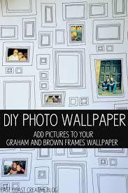 kid wallpaper usa mylar. DIY Photo Wallpaper Using Graham \u0026 Brown Frames Kid Usa Mylar