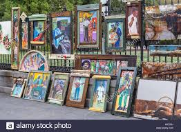 art for in jackson square in new orleans louisiana