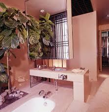 Whole Bathroom Accessories Palm Tree Decor Pink Pastel Rose Quartz Modern Powder Room Master