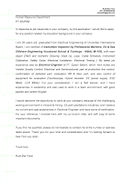Bunch Ideas Of Cover Letter For Fresh Graduate Electrical Engineer