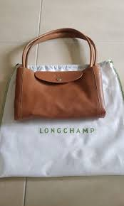 longchamp le pliage cuir large leather tote bag women s fashion bags wallets handbags on carou