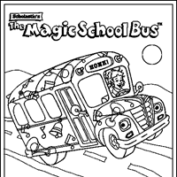 Small Picture Magic School Bus Coloring Pages All Kids Network