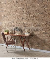 masculine furniture. Masculine Furniture. Study Desk Behind Natural Brick Wall Empty Frame And Furniture With Hard