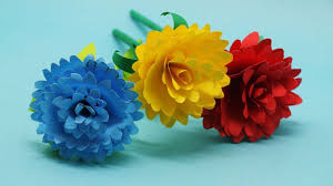 Dahlia Flower Making With Paper How To Make Origami Paper Dahlia Flower Making Diy Dahlia Flower