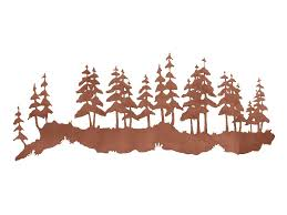 42 pine forest metal wall art on pine tree forest metal wall art with 42 pine forest metal wall art nature wall decor