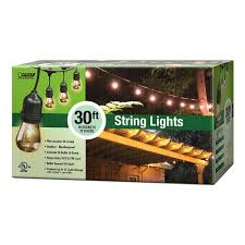 10 socket incandescent string light set
