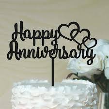 Happy Anniversary Cake Topper Wedding Anniversary Cake Topper Ebay